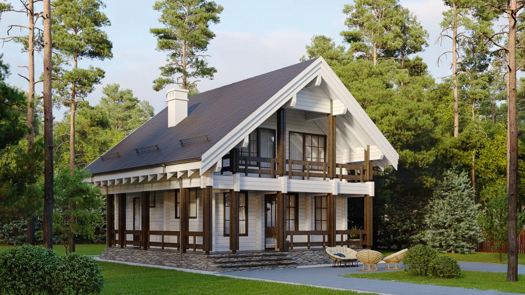 Дом из бруса белый