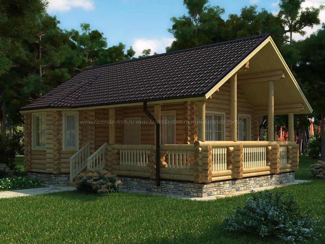 Проекты домов из бруса и бревна 31