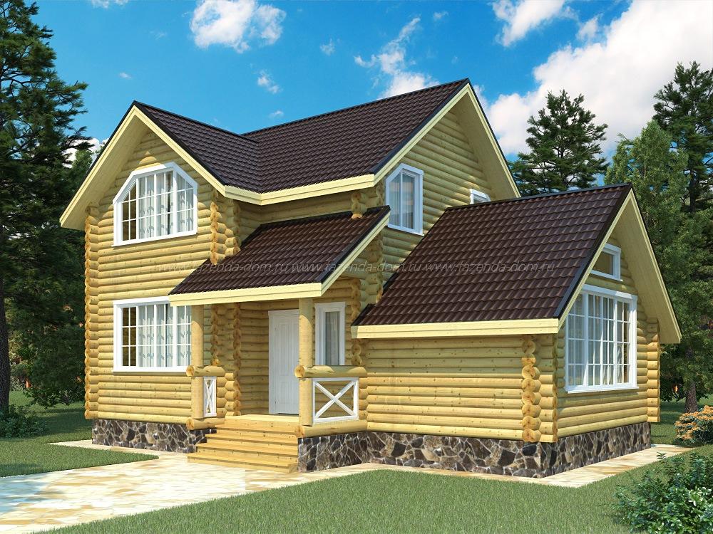 Проекты домов из бруса и бревна 29