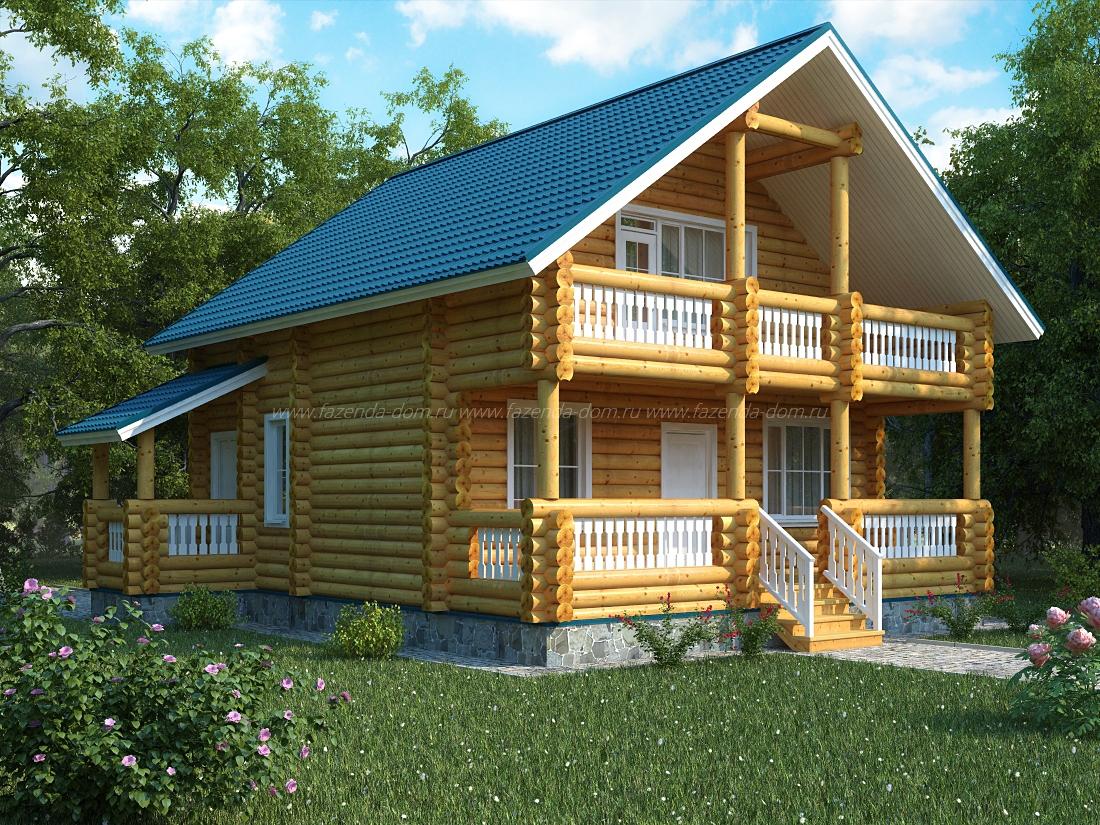 Проекты домов из бруса и бревна 28