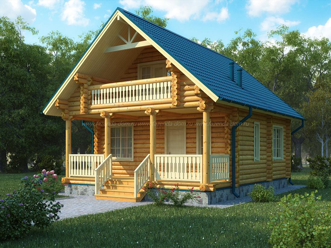 Проекты домов из бруса и бревна 27