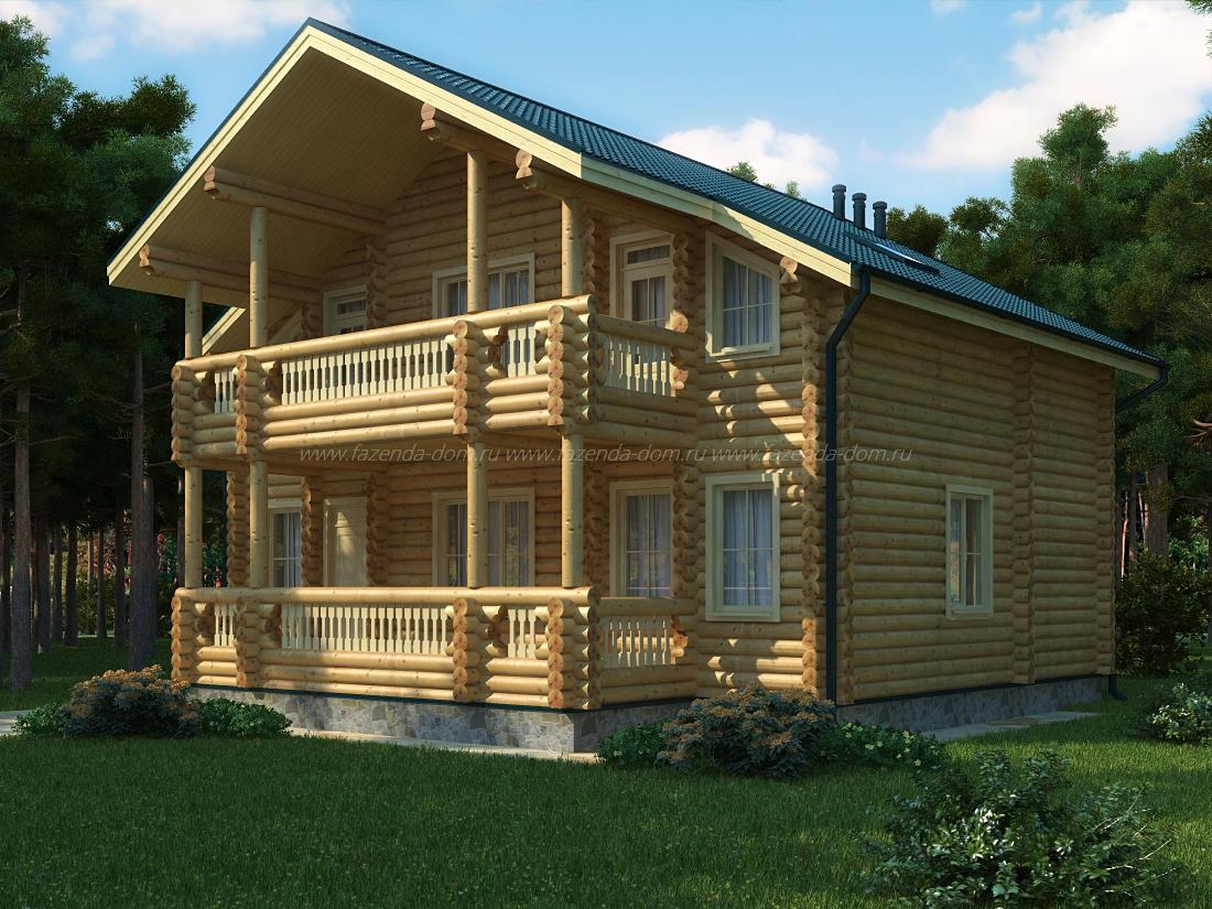 Проекты домов из бруса и бревна 26