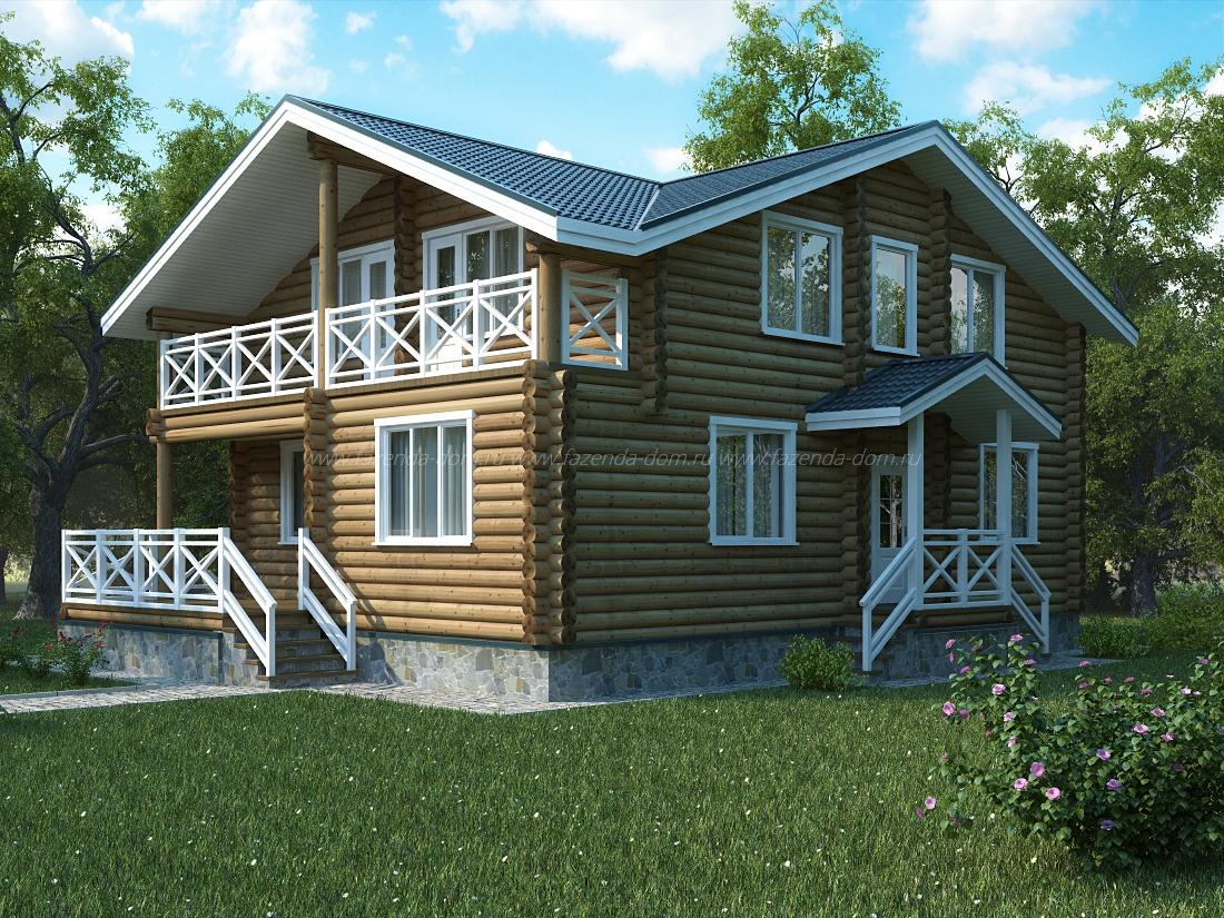 Проекты домов из бруса и бревна 24