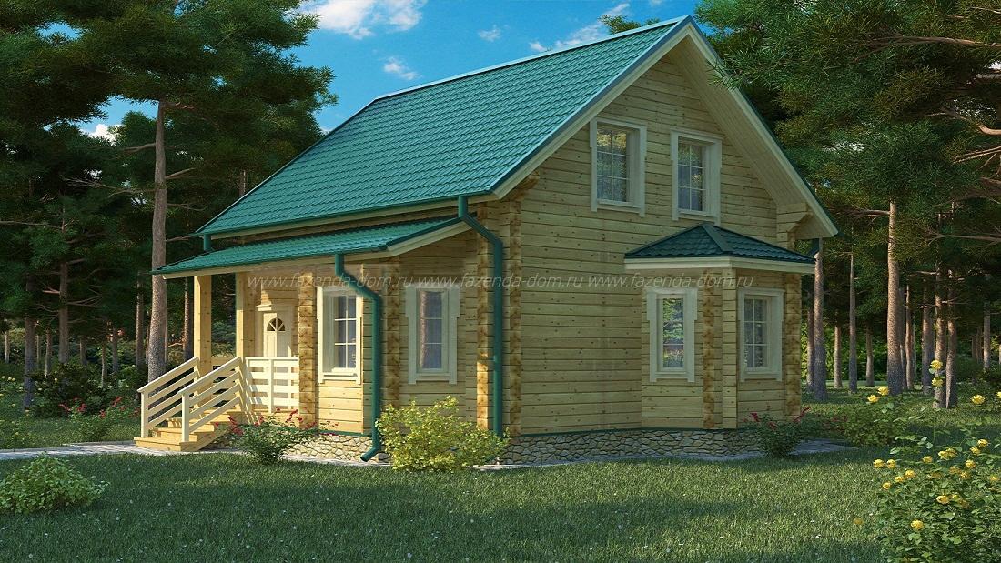 Проекты домов из бруса и бревна 22