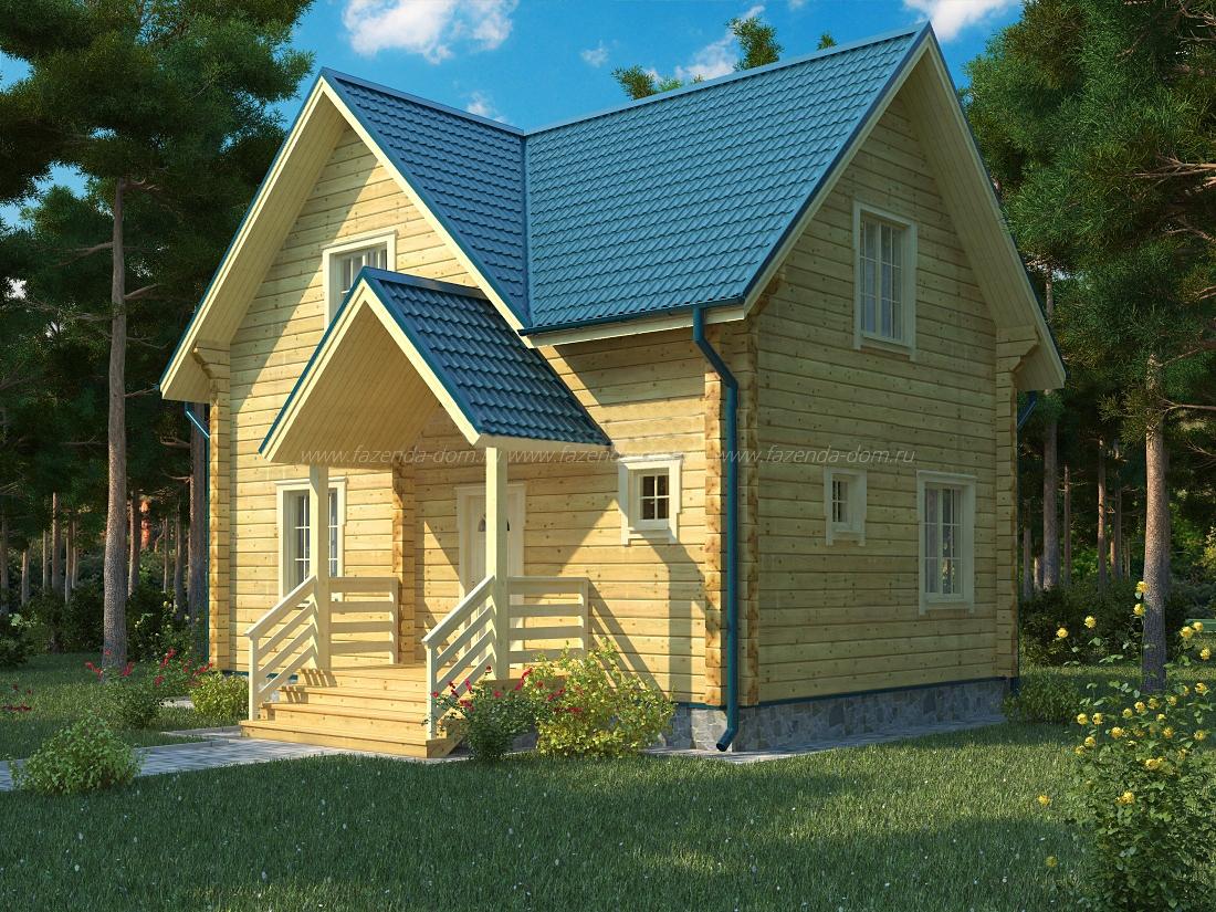 Проекты домов из бруса и бревна 21