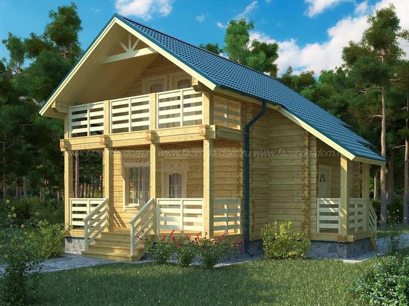 Проекты домов из бруса и бревна 19