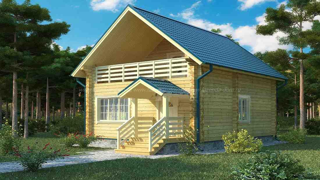 Проекты домов из бруса и бревна 18