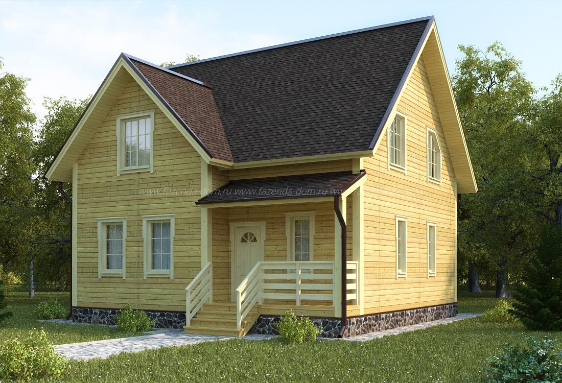 Проекты домов из бруса и бревна 16