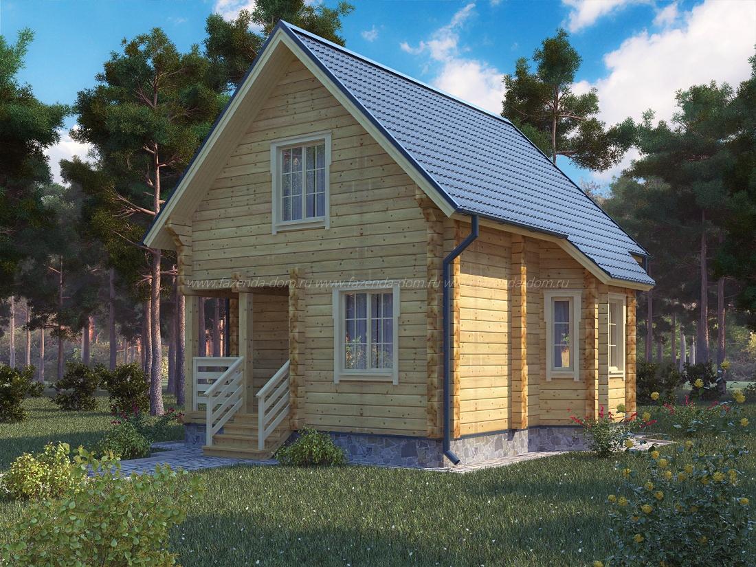 Проекты домов из бруса и бревна 13