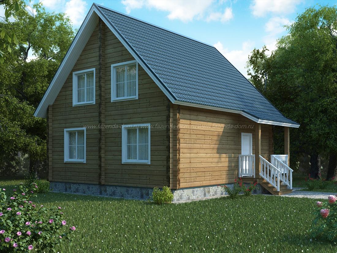 Проекты домов из бруса и бревна 11