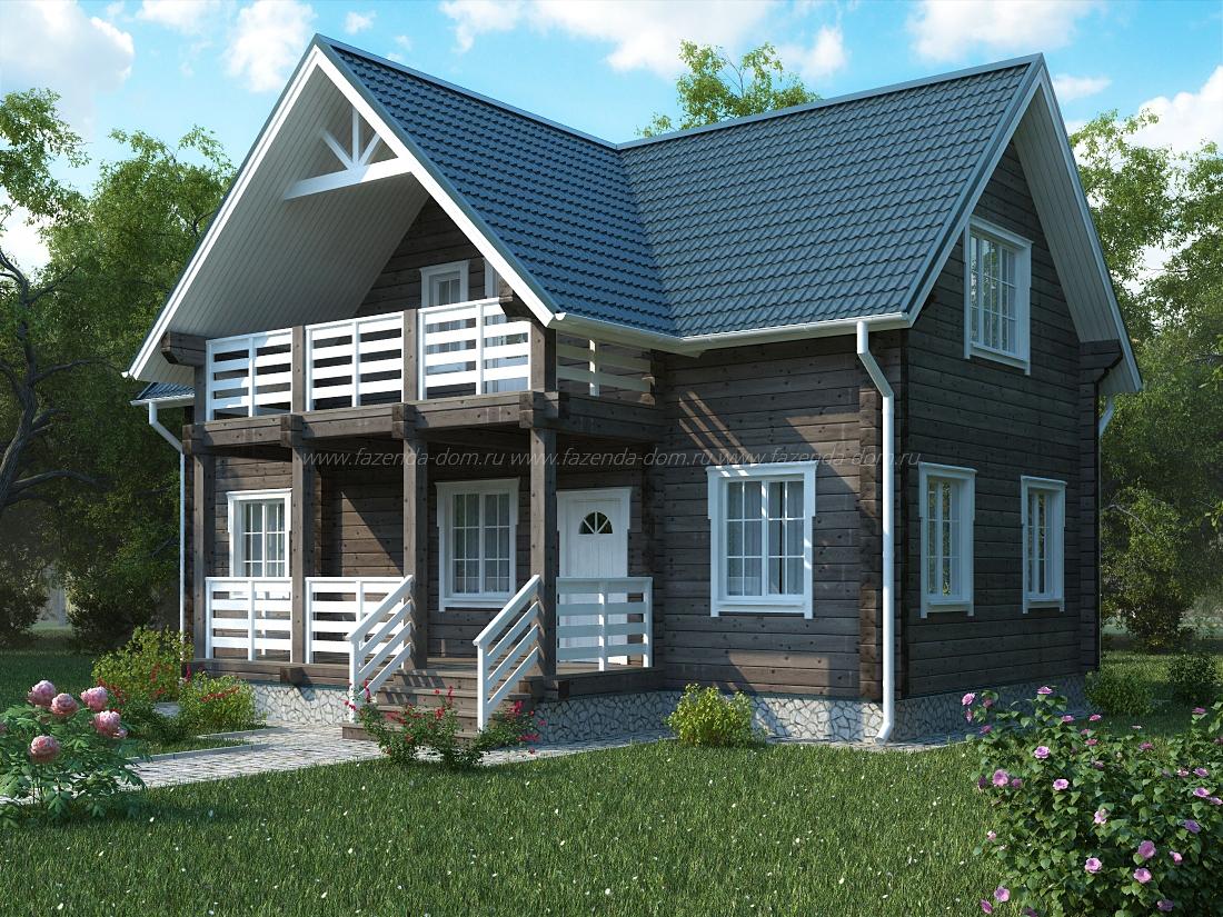 Проекты домов из бруса и бревна 10