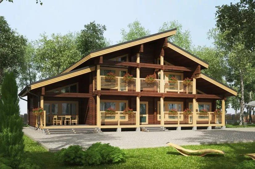 Проекты домов из бруса и бревна 4