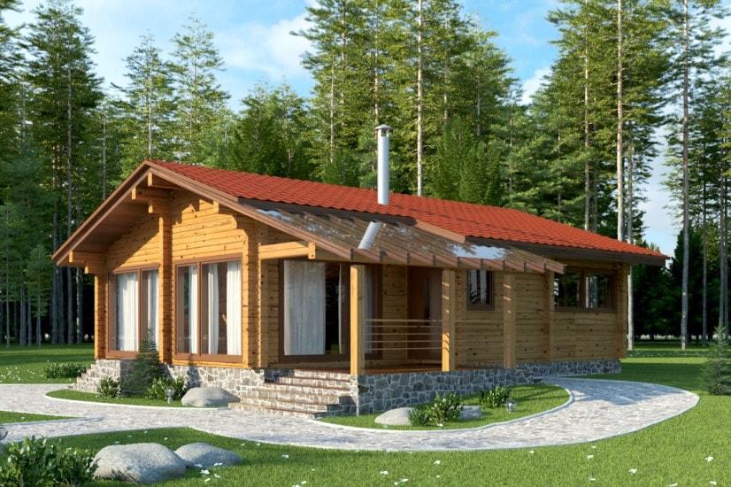 Проекты домов из бруса и бревна 6