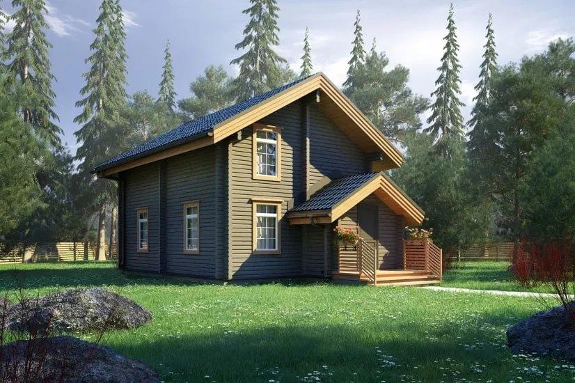 Проекты домов из бруса и бревна 8