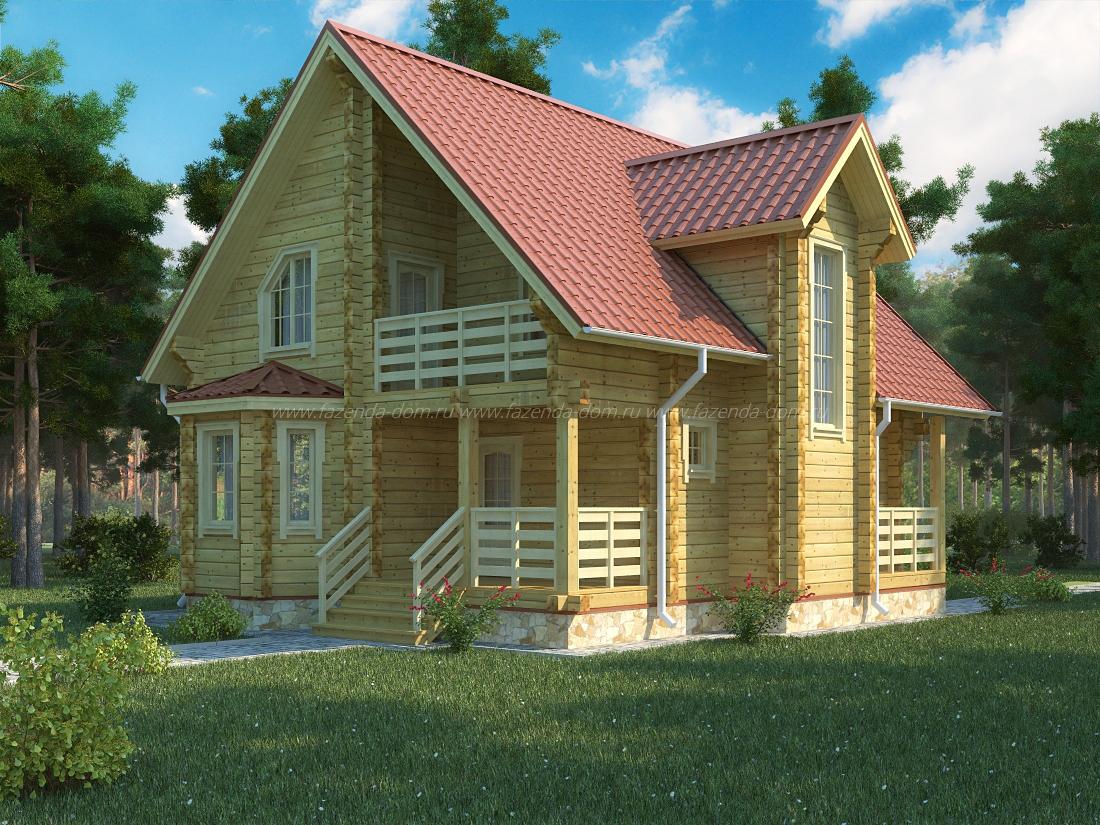 Проекты домов из бруса и бревна 3