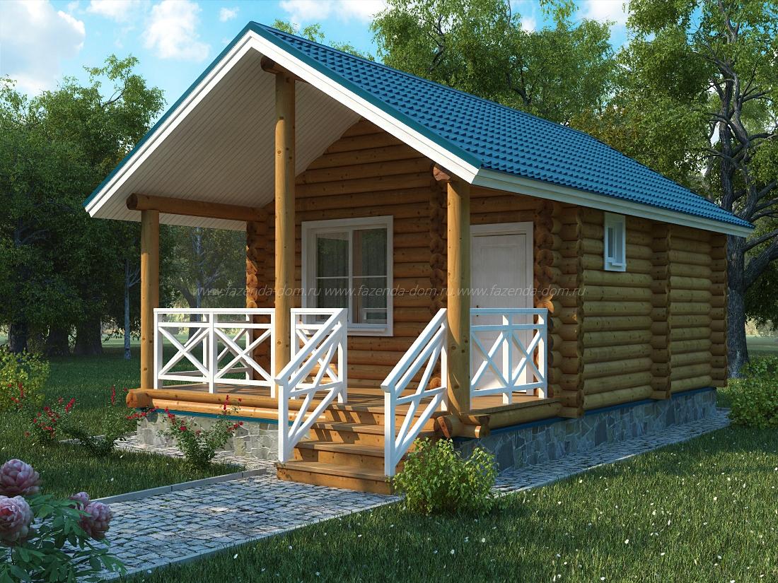 Проекты домов из бруса и бревна 30