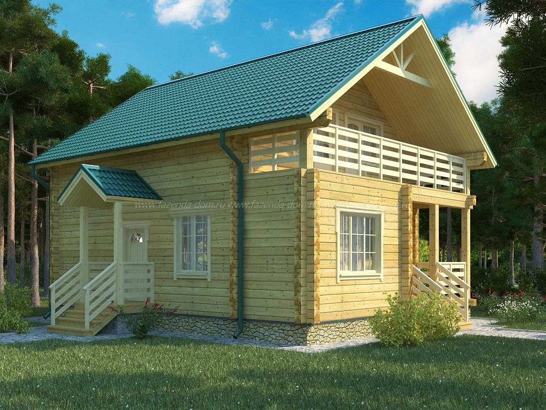 Проекты домов из бруса и бревна 23