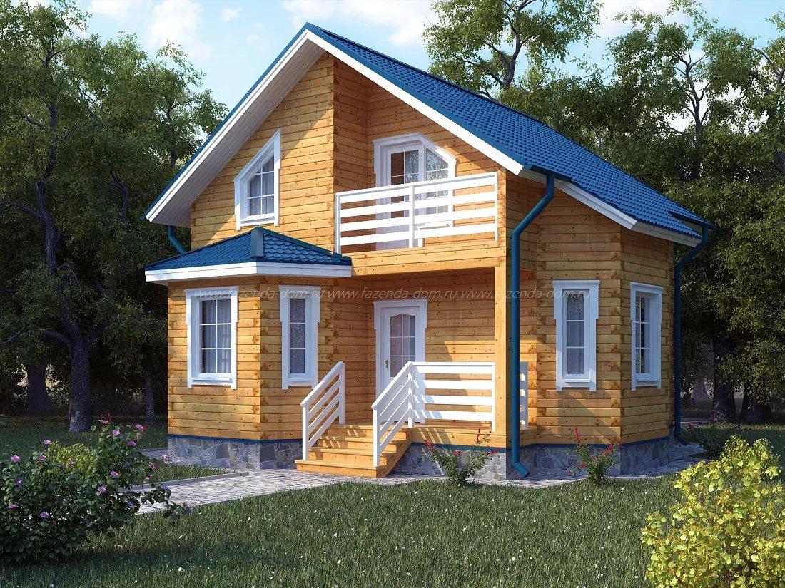 Проекты домов из бруса и бревна 15