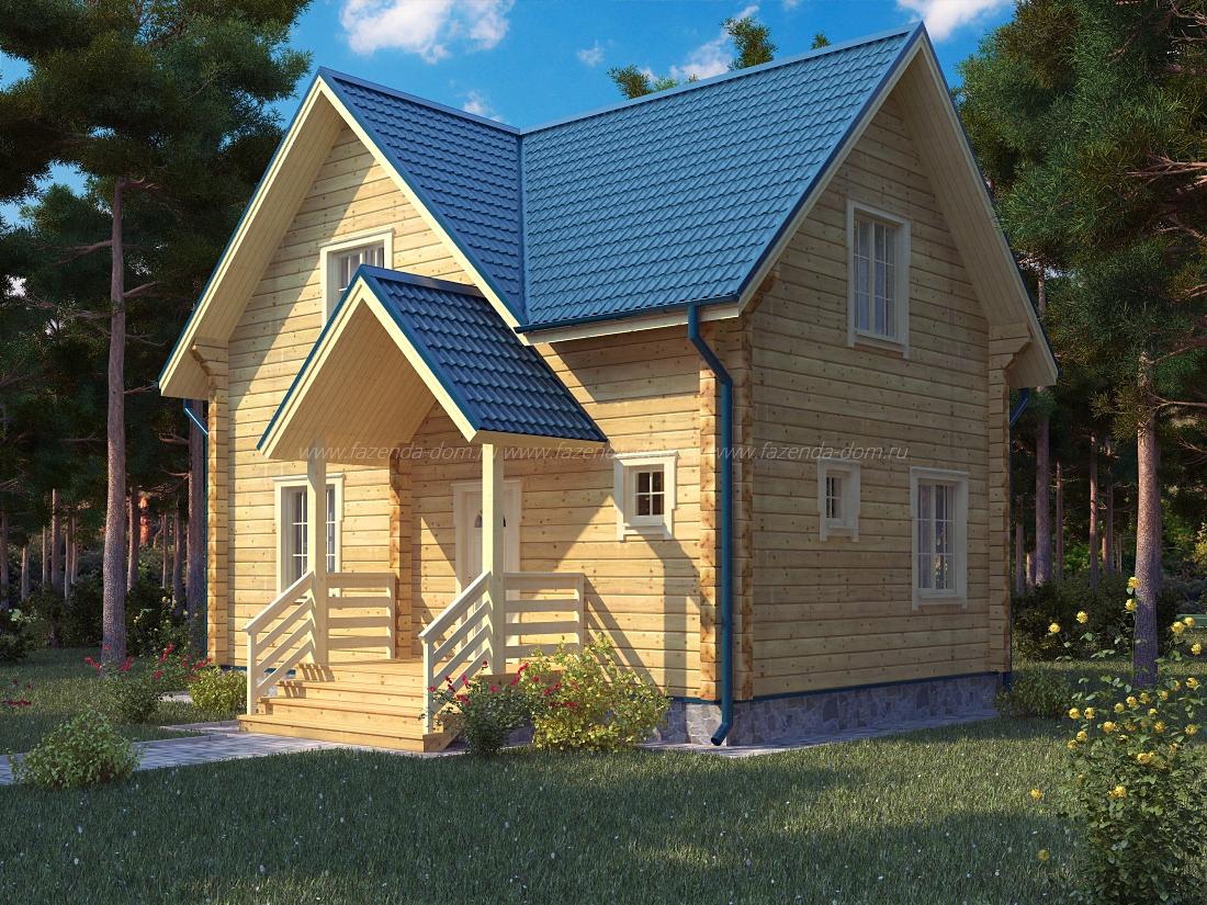 Проекты домов из бруса и бревна 14