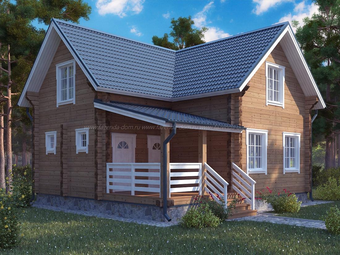 Проекты домов из бруса и бревна 12