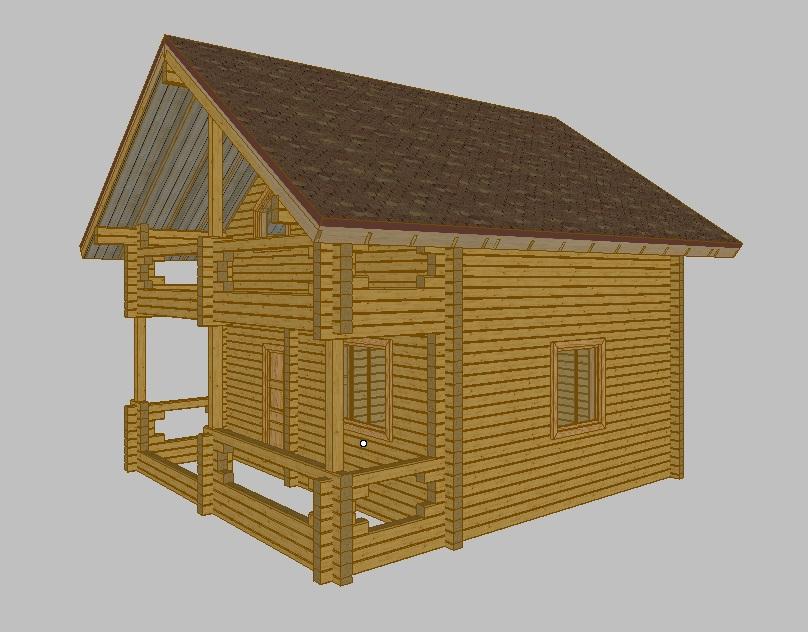 Дома из бруса проекты 1
